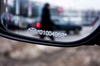 Auto spoguļu marķēšana
